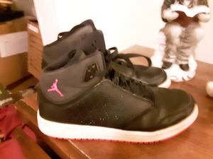 New woman's size 8 hightop Nike Jordan leather black and pink leather for Sale in Springfield, OH