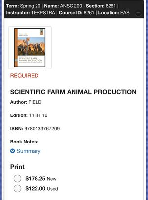 MJC Book Animal Science 200 for Sale in Modesto, CA