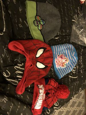 Winter hats spider man / ninja turtle / shopkins for Sale in Maryland Heights, MO