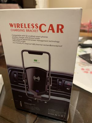 Wireless Car Charger with Automatic Bracket - for iPhone and Samsung - Brand New for Sale in Los Angeles, CA