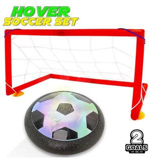 Kids Hover Toys Soccer Goals Ball Set with 2 Gates Nets Air Ball LED Light Football Toy for Boys/Girls Age of 2,3,4,5,6,7,8-16 Years Old,Children Gif for Sale in Queens, NY