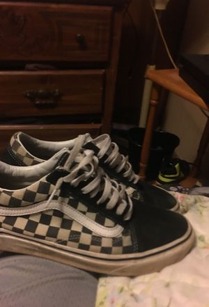 Black and white checkerboard vans size 9.5 for Sale in Florence, SC