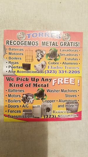 We pick Up metal for free for Sale in Hazard, CA