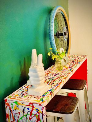 CONSOLE COLORFUL TABLE for Sale in Kissimmee, FL