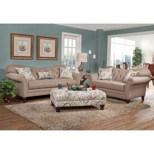 SERTA Metropolitan Dark Beige Fabric Upholstery Wood Frame Living Room Collection. Dark Beige for Sale in Hilliard, OH
