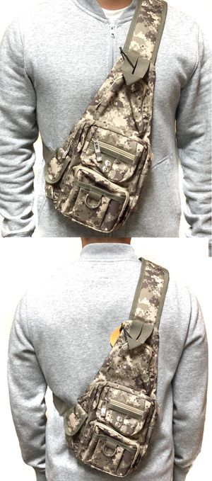 NEW! Camouflage Side Bag Crossbody bag chest bag sling pouch camping hiking day pack edc backpack travel bag for Sale in Carson, CA