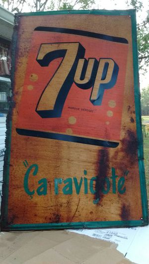 Tin 7 UP sign (made in Canada) for Sale in Durham, NC