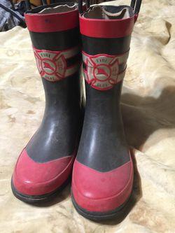 Fireman rain boots Size 13/1 Youth for Sale in Atlanta,  GA