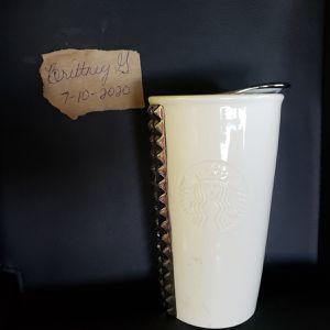 Starbucks white studded ceramic mug for Sale in Dallas, TX