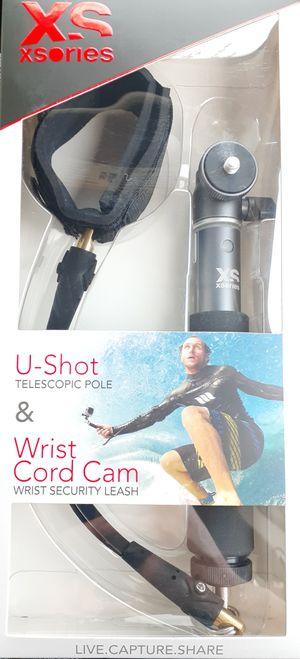 BRAND NEW Go pro & Action Cameras u-shot Telescopic Pole & Wrist Cord Cam Wrist Security Leash Universal Screw for Sale in San Antonio, TX