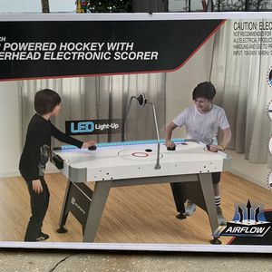 "MD Sports 60"" Air Powered Hockey Table with Overhead LED Scorer for Sale in Jacksonville, FL"