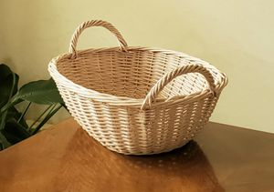 16-inch Painted Willow Basket with Handles for Sale in Freedom, WI