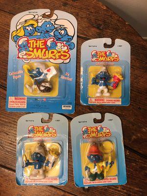 Smurfs VTG 90's (1995 & 1996) Schleich Toy Keychain Lot Of 4- RARE! for Sale in Atlanta, GA
