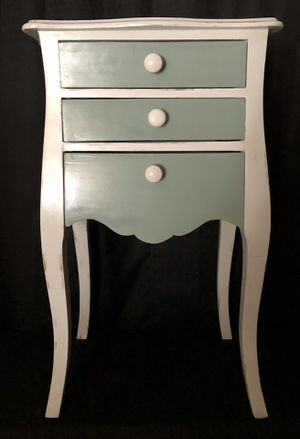 Sage and White Chalk Painted Side Table Night Stand for Sale in Crofton, MD