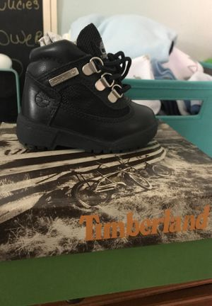 Baby black timberlands size 4C for Sale in New York, NY