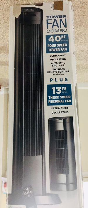 """Two Fans with Remote - 40"""" and 13"""" for Sale in Rockville, MD"""