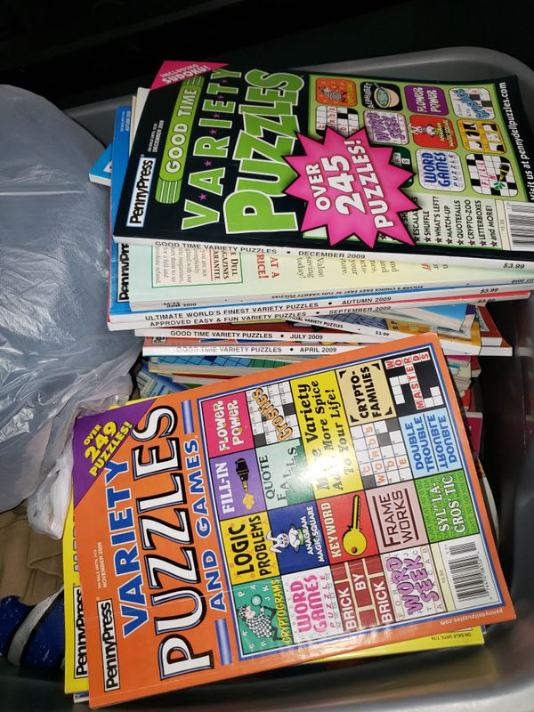 Variety puzzle books 0.25 each