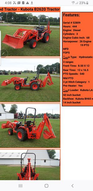 2016 Kubota front loader backhoe tractor like new for Sale in Princeton, NJ