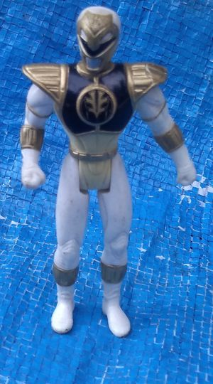 "4"" White Ranger Action Figure 1995 Mighty Morphin Power Rangers Vintage Collectible MMPR for Sale in Pasadena, CA"