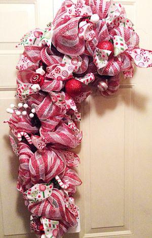 Candy Cane Door Swag/Wreath for Sale in Gerrardstown, WV
