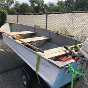 Fishing boat, newer trailer, Johnson motor ,extras for free for Sale in Troy, MI