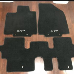 New OEM Floor Mats Set Black 2014-2020 Infiniti QX60 Front Rear 999E2-R2000 4pc for Sale in Brea, CA