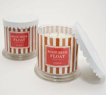 Harry Slatkin Set of 2 Deluxe Root Beer Float 4-Wick Candles for Sale in Whittier, CA