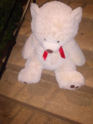 Large Teddy bear color little bit darker than showing about 32 tall for Sale in Alexandria, VA