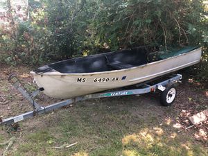 16ft aluminum boat with trailer for Sale in Barnstable, MA