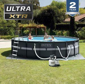 Intex 18ft x 52In Ultra XTR Frame Above Ground Swimming Pool Set w/ Pump for Sale in Atlanta, GA