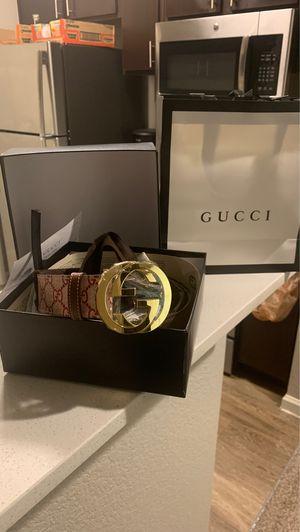 Gucci Belt 90cm waist 30-32 waist for Sale in Aurora, CO