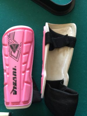 Pink soccer shin guards for Sale in Wildomar, CA