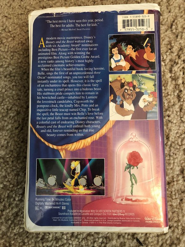 Beauty and the Beast RARE VHS