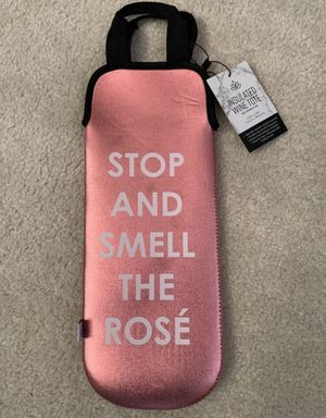 NEW WITH TAG Wine Bottle Tote Bag Purse Pink Rose❗️IF POSTED THEN AVAILABLE❗️$15 FIRM Birthday for Sale in Plainfield, IL