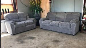 New 2pc. Grey Chenille sofa and love Seat for Sale in Austin, TX