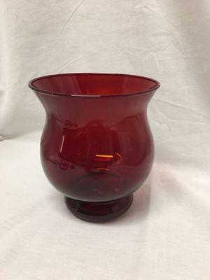 Ruby red glass vase / votive candle holder for Sale in El Mirage, AZ