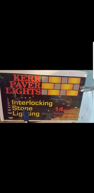Brick patio paver lights for Sale in Hyattsville, MD