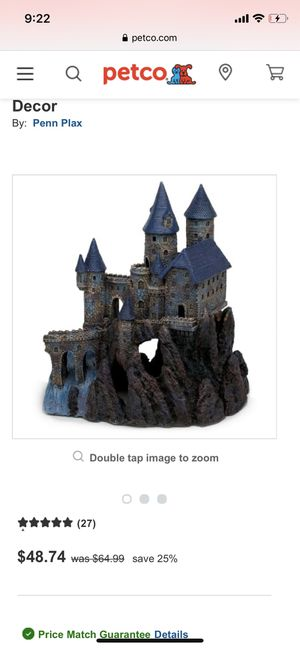 Fish tank castle in perfect shape very cool!! for Sale in Seguin, TX