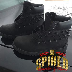 All black spiked timberland boots for Sale in Baltimore, MD