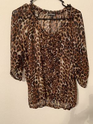 Express leopard print shirt for Sale in North Las Vegas, NV