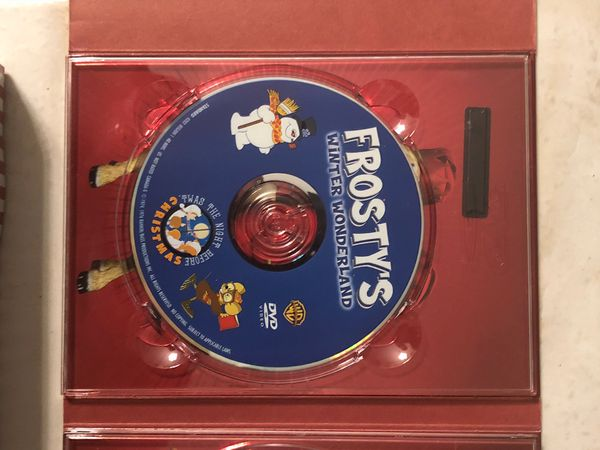 Classic Christmas Favorites DVD box set with glass bottle stopper & 6 Glass Wine Charms