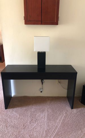 Wall Table (Console Table) + Modern Lamp for Sale in Montgomery Village, MD