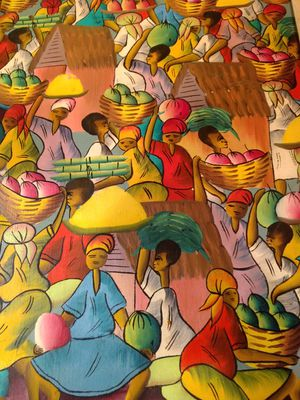 Orginal Haitian Painting by C. Gerelis for Sale in US