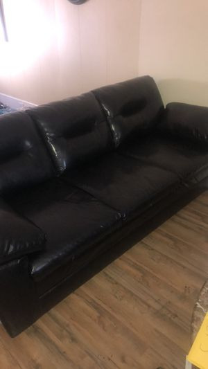 New faux leather couch just bought 2 months ago for Sale in Buffalo, NY
