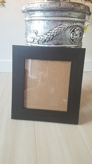 Inner 8inx9in picture frame in dark wood for Sale in Seattle, WA