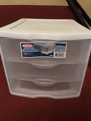 Plastic 3 drawer organizer for Sale in Chino, CA