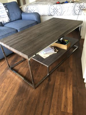 Gray wood finish coffee table for Sale in Los Angeles, CA