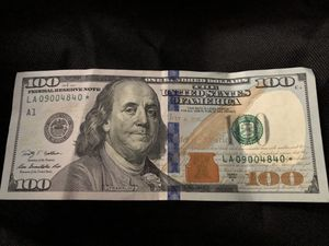 Hundred dollar bill with a star rare for Sale in Hannibal, MO