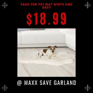 Faux Fur Pet Mat White And Grey for Sale in Garland, TX