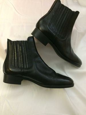 Zara Boots Black Leather for Women 7.5 ***girls 5.5*** for Sale in Miami, FL